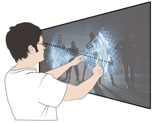 Waveform | video blending with in-air multi-touch gestures